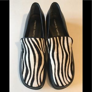 EUC Zebra Print Leather Loafers